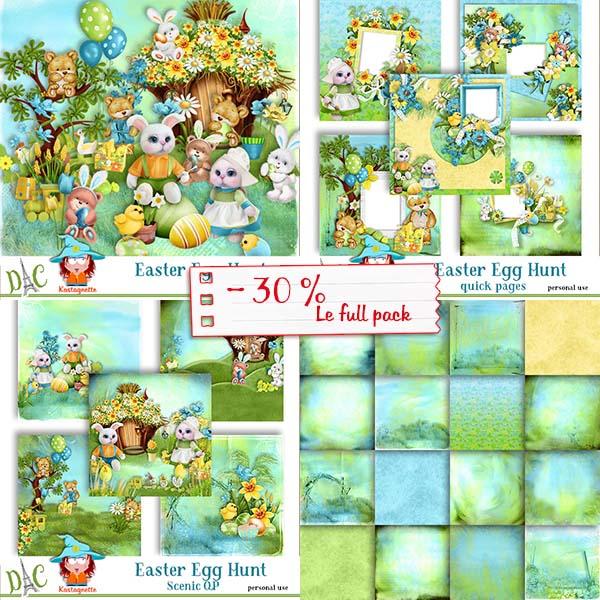 Easter Egg Hunt Full pack by Kastagnette + Free QP