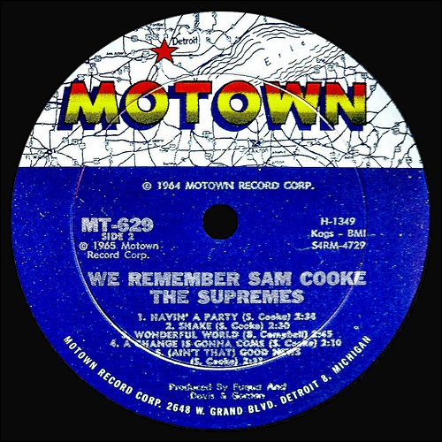 "The Supremes : Album "" We Remember Sam Cooke "" Motown Records MT 629 [ US ]"