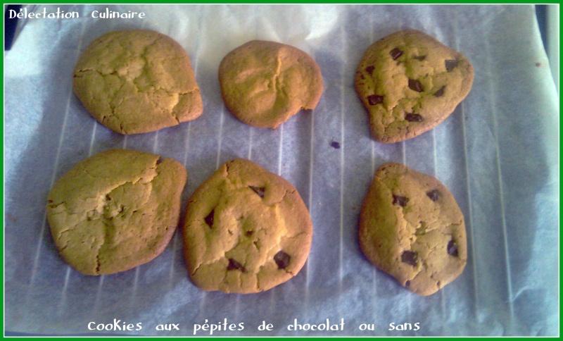 Cookies aux pépites de chocolat ou sans
