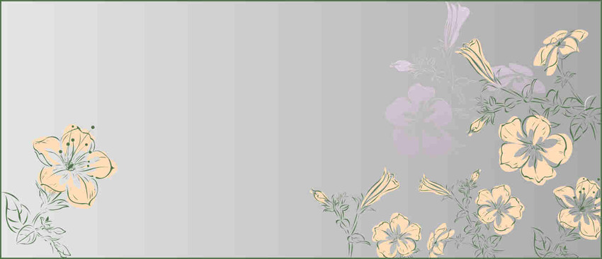 Header florale vectoriel
