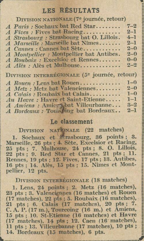R.C.Calais 12 février 1935