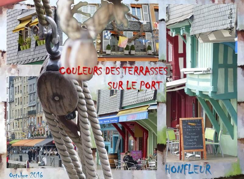 Les terrasses du port de Honfleur