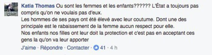 Certains de vos commentaires sur Facebook sur l'arrivée des migrants dans la région sont insupportables