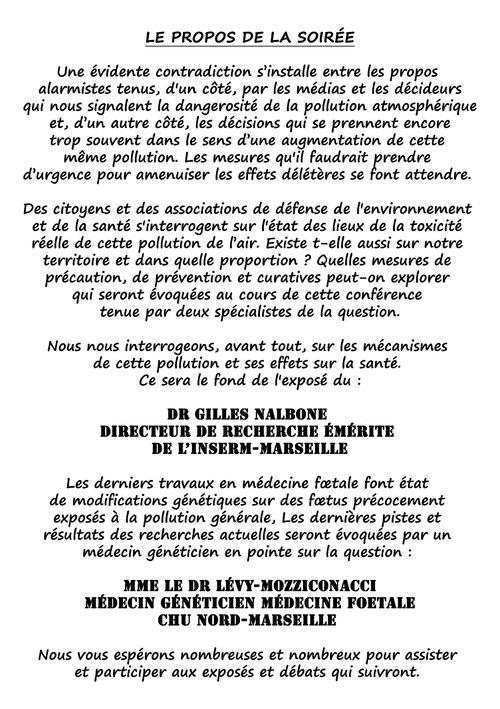 Conférence/débat pollution atmosphérique/santé le 7.10. à Gardanne