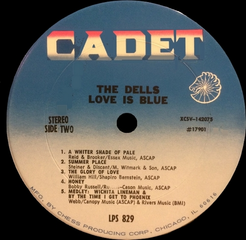 "The Dells : Album "" Love Is Blue "" Cadet Records LPS 829 [ US ]"