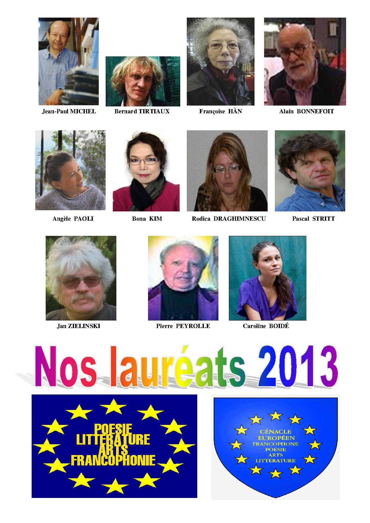 Nos lauréats 2013 (photos)