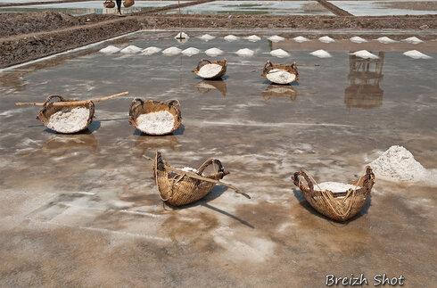 salines de kampot - paniers de sel