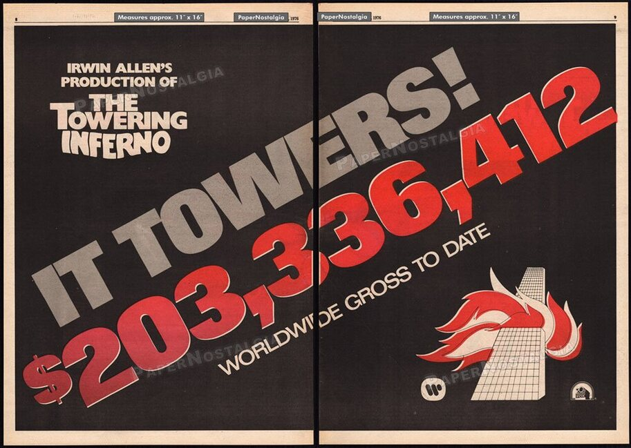 TOWERING INFERNO WORLDWIDE BOX OFFICE