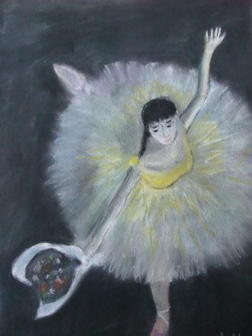 Danseuse, copie d'un tableau de Degas