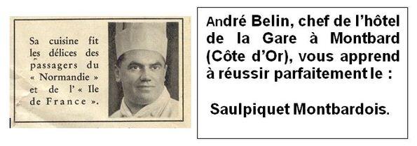"""""""La truite de Fontenay, caprice de Buffon"""", une extraordinaire recette du grand chef André Belin de l'hôtel de la Gare à Montbard"""