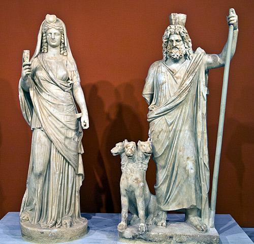 Perséphone et Hadès aux Enfers