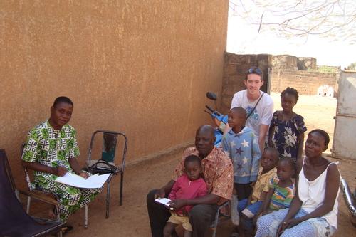 FRanck en stage humanitaire au Burkina