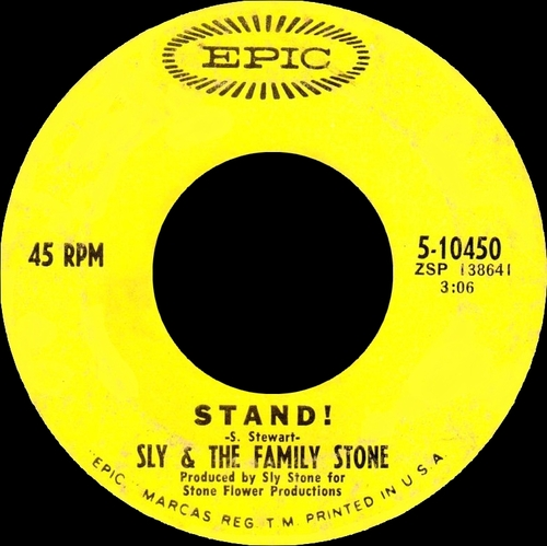 "Sly & The Family Stone : Album "" Stand ! "" Epic Records BN 26456 [ US ]"