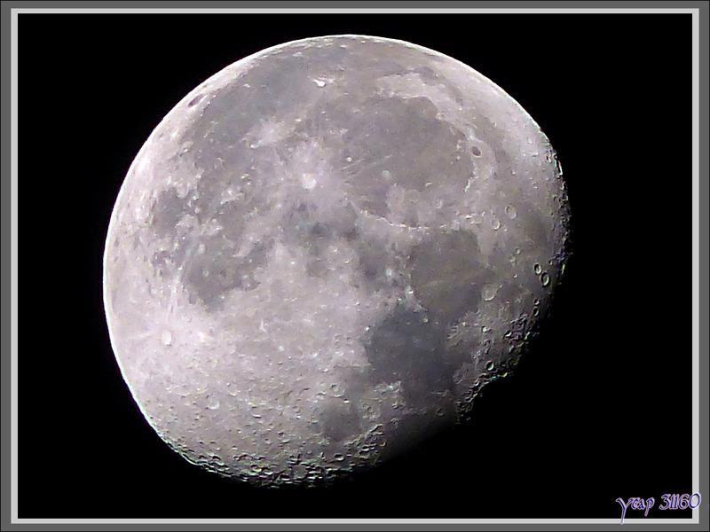 La Lune, le 1er octobre au matin - Lartigau - Milhas - 31