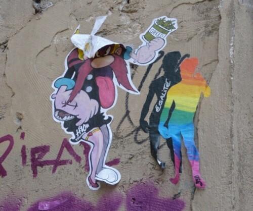 mariage pour tous égalité street-art