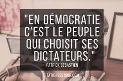 En démocratie..........