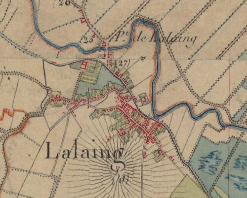 Lallaing - Carte de l'état-major 1820-1866 (geoportail.gouv.fr)