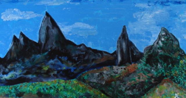 Acrylique sur toile 80 x 40   400€