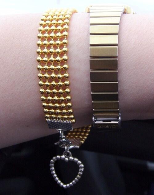 Quelques nouveautés côté bijoux in the city !!! bracelet couleur or