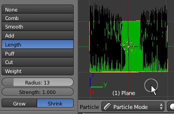 Le Particule Mode permet d'ajuster un système de particule de type Hair