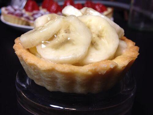 Tartelette en fête- À la banane