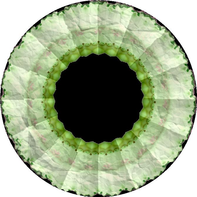 Cadres verts ronds