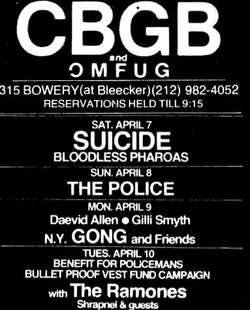 Live: Suicide - CBGB NYC - 7 avril 1979 (sbd)