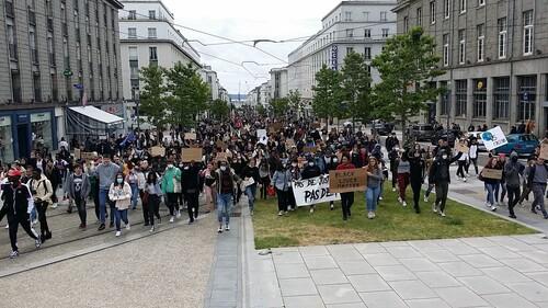 Brest Mobilisation contre le racisme et les violences policières Mercredi 10 juin 2020