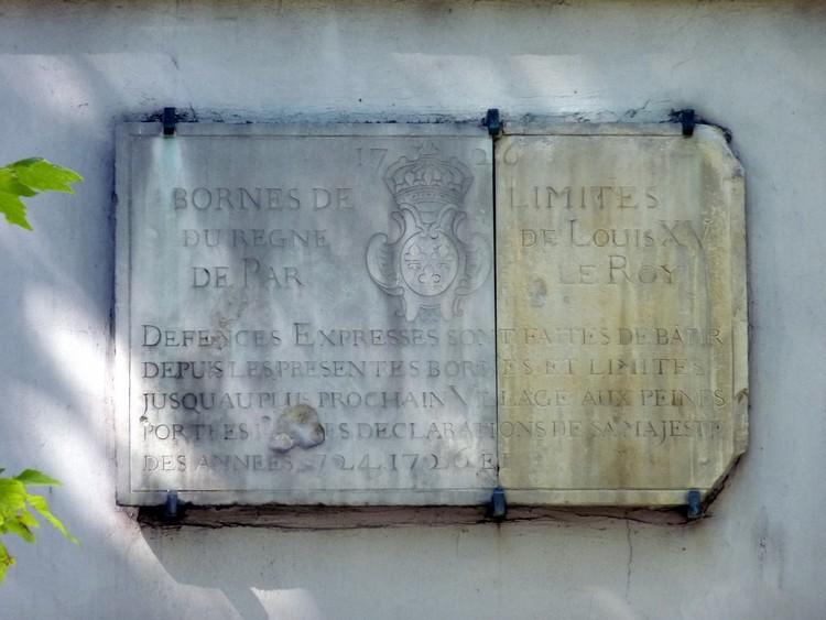Borne frontière de 1726