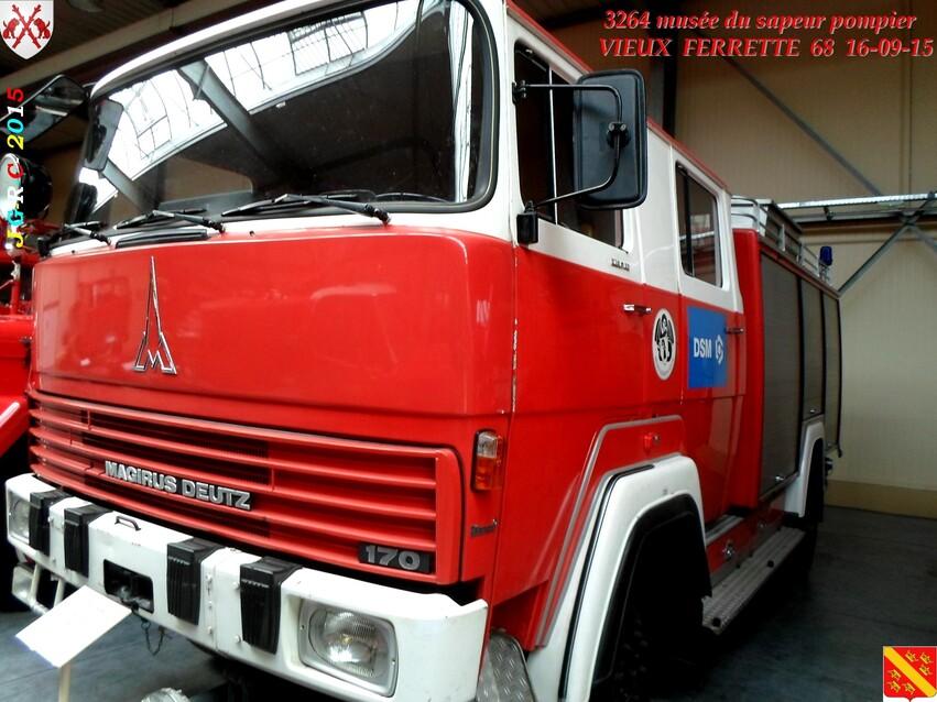 Musée du Sapeur Pompier d'ALSACE  1/4  23/26   VIEUX FERRETTE  68   D  12-09-2016