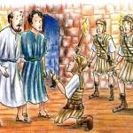 o carcereiro recebe Jesus