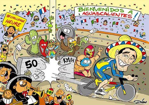 Préparation pour le Record de France de l'Heure