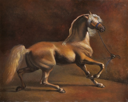 Cheval tirant au Renard