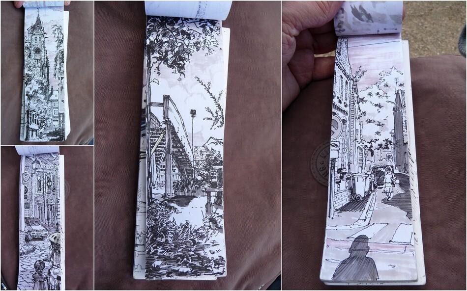 Au Jardin des Plantes, Raoul Douglas dessine