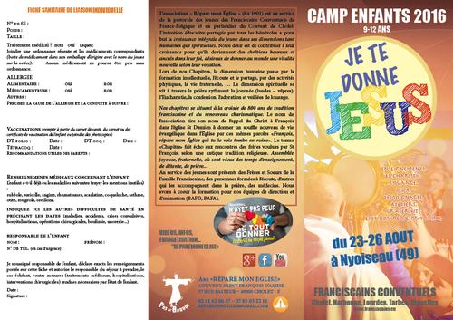 Camps d'été 2016