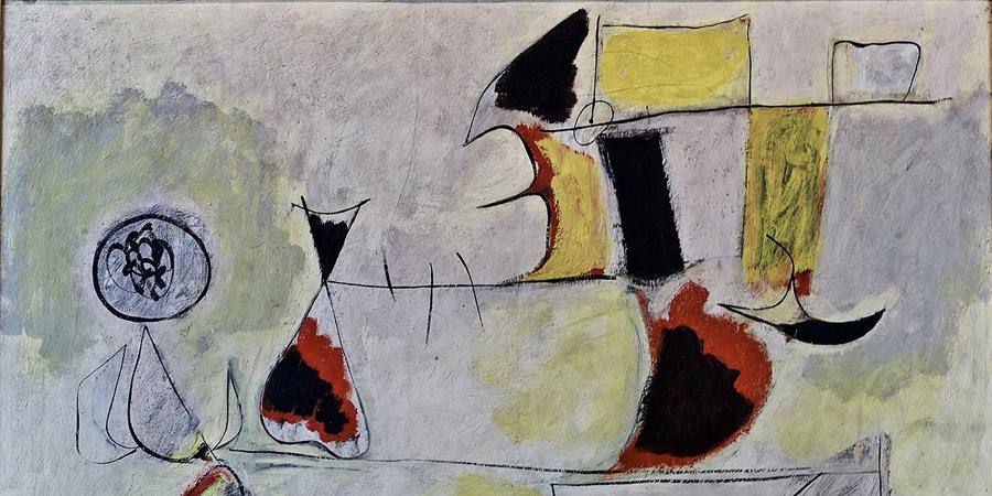 Crédit d'image: Garden of Wish Fulfillment (détail), Arshile Gorki, 1944, Fondation Calouste Gulbenkian, Lisbonne Portugal.