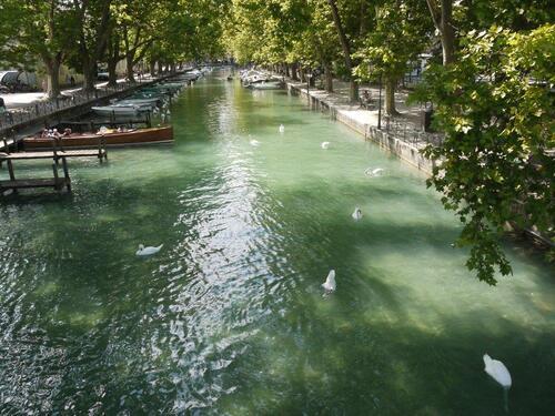Canal Vassé depuis le pont des Amours