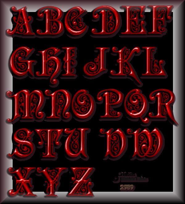 Tube Alphabets 2989
