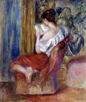 1- Les jeunes filles à la lecture- dans la peinture