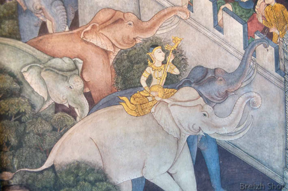 Wat Pho : L'éléphant blanc