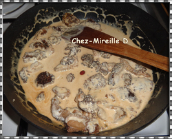 Côtes de Veau Crème et Morilles