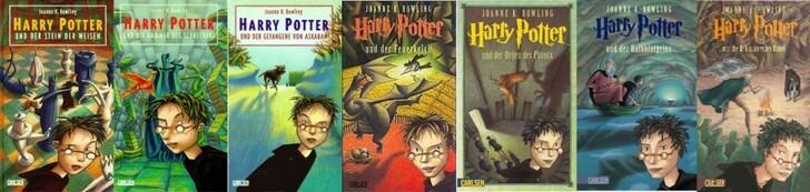 Harry Potter Couverture livre 17 09 German 900x214 Les couvertures des livres Harry Potter par pays