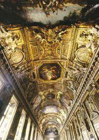 La galerie d�Apollon apr�s restauration (vue en perspective de la vo�te), � E.Revault / Mus�e du Louvre
