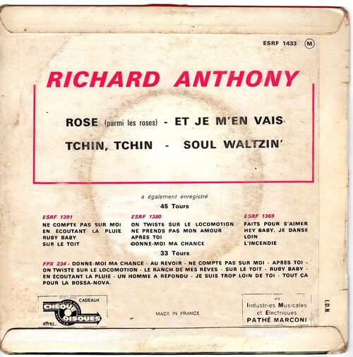 Richard Anthony - Tchin Tchin (1963) 02