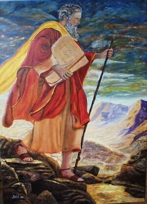 118 Moïse sur le mont sinaï   70 x 50