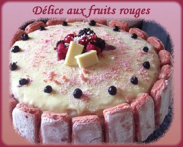 Recette de cuisine : Délice aux fruits rouges