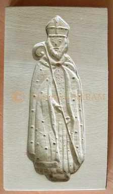 Moule artisanal en bois Saint Nicolas décoré - Arts et sculpture: sculpteurs, artisans d'art