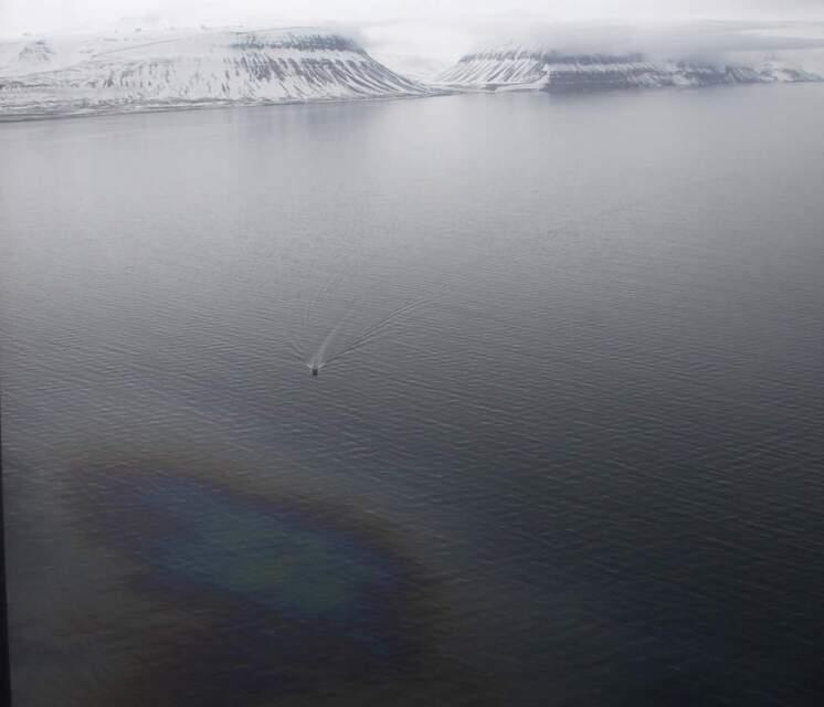 Flaket lå vest for utløpet av Adventfjorden.
