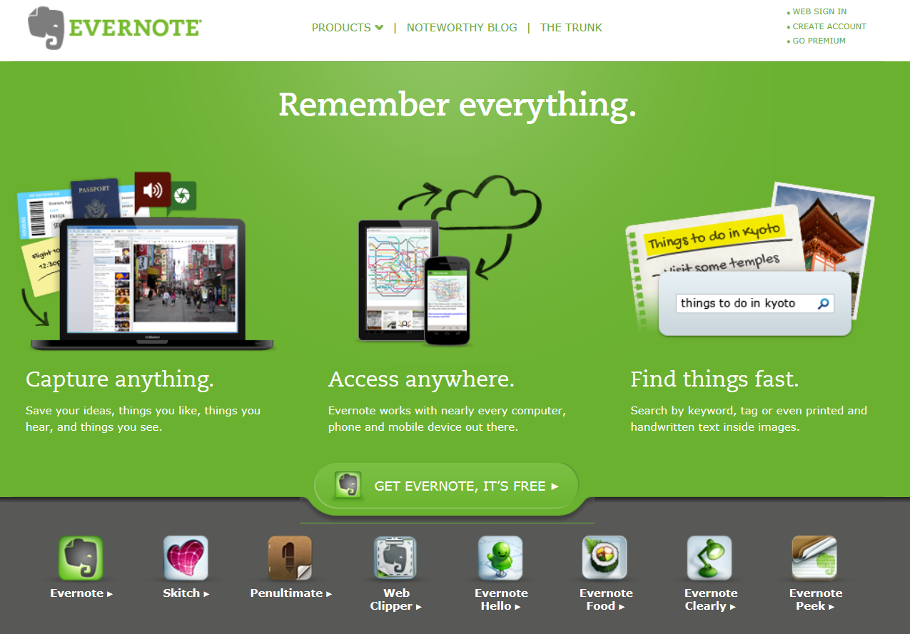 Evernote is a mobile app designed for note taking,organizing,tasks lists, and archiving