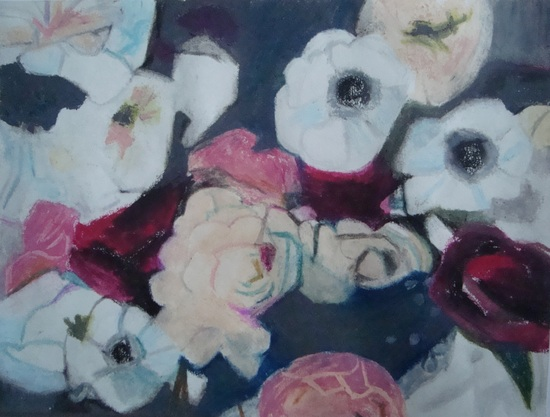 fleurs couleur prune